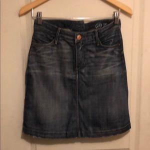AG Fader .05 Denim Skirt